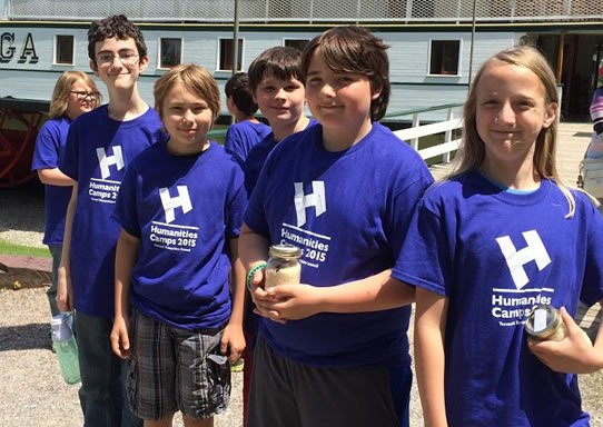 Image of Humanities campers at Shelburne Museum