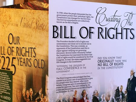 Image of Bill of Rights Exhibit