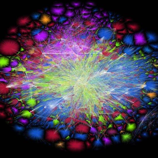 Image of internet traffic as art