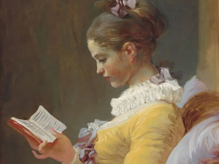 Image of painting of woman reading book