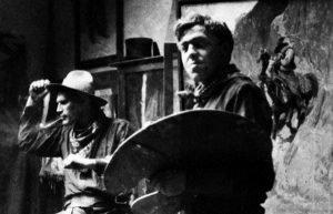 Image of N.C. Wyeth in his studio