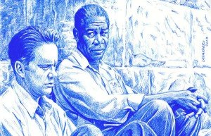 Drawing of characters from Shawshank Redemption