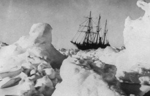 Image of the Endurance in an ice floe