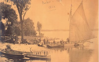 Photo of historical boat scene