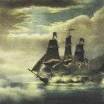 Image of sailing ship in battle