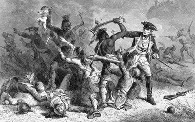 Image of colonial battle blockprint