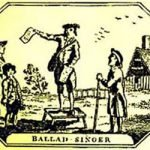 Image of colonial ballad singer