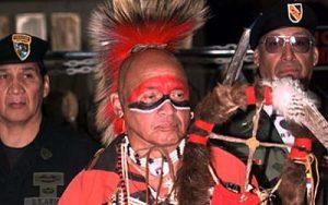 Image of Abenaki man in traditional dress