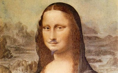 Image of Mona Lisa with beard