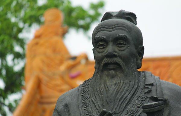 Image of Confucius statue