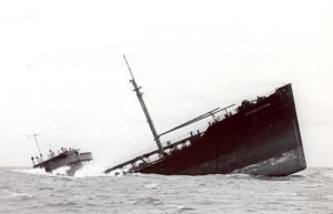Image of boat sinking