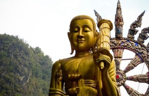 Image of Buddha and hills