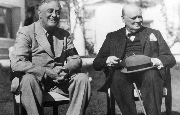 Image of Churchill and Roosevelt in Casablance