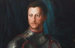 Image of painting of man in suit of armor