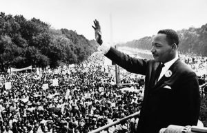 Image of Martin Luther King at March on Washington