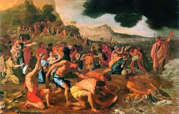 Image of painting of Israelites crossing the Red Sea