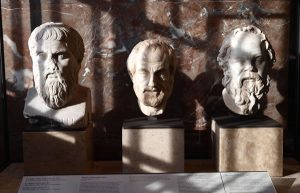 Images of busts of philosophers