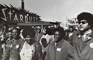Image of African American women marching