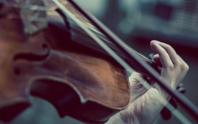 Image of hands with violin