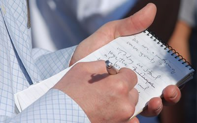 Image of reporter's notebook