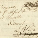 Image of Levi Allen's signature