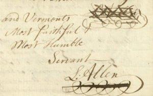 Image of Levi Allen's signature