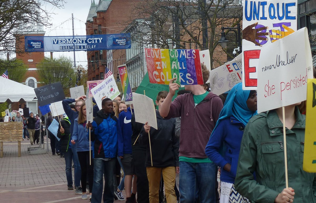 Image of Edmunds students marching