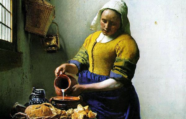 Image of painting of milk maid