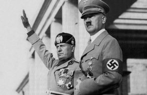 Image of Mussolini and Hitler