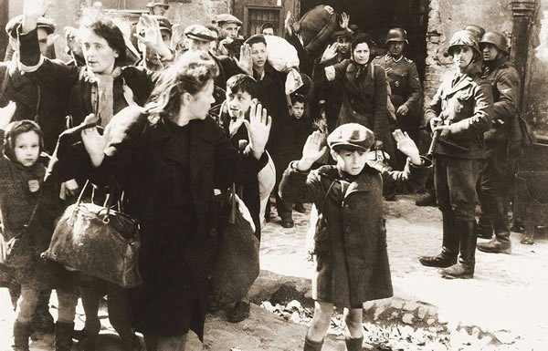 Image of Jews being deported by Nazis