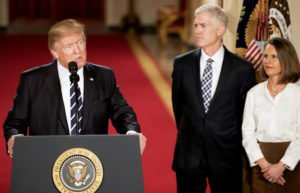 Image of President Trump with Neil Gorsuch