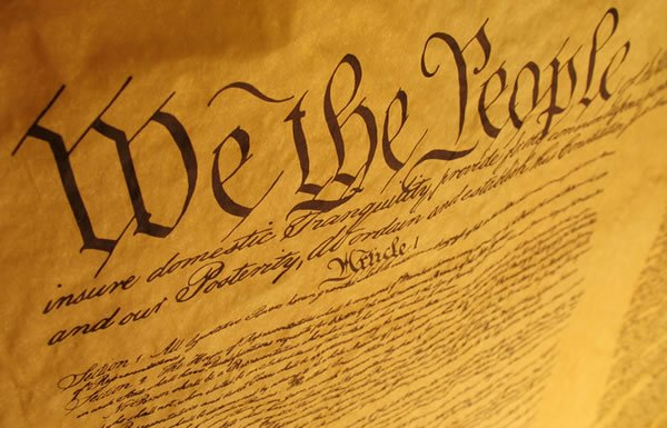 Image of preamble to the Constitution