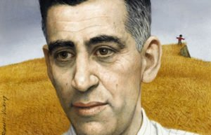 Image of painting of JD Salinger
