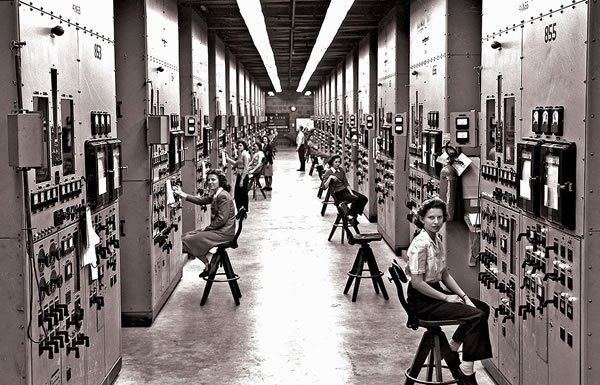 Image of workers on Manhattan Project
