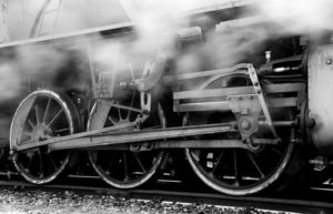 Image of old steam train