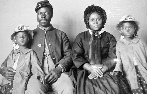 Image of slave family