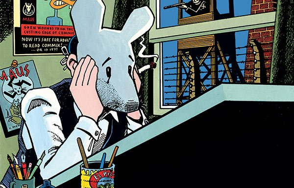 Image of Art Spiegelman drawing