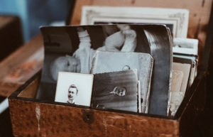 Image of box with old photos