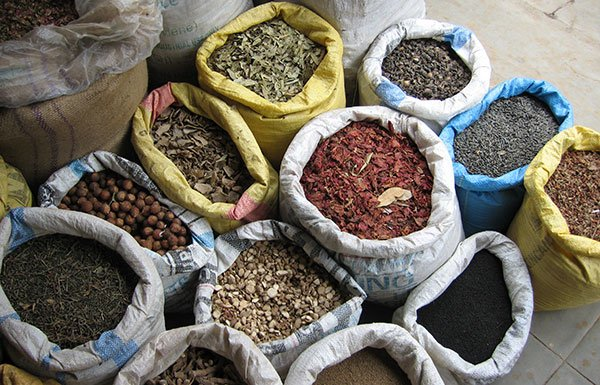 Image of spices in store