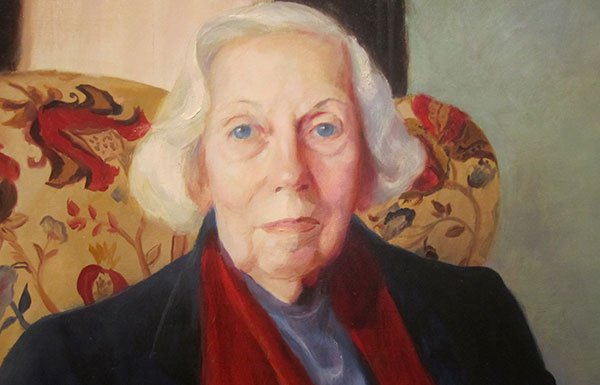 Image of painting of Eudora Welty