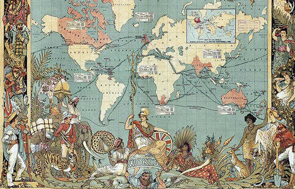 Image of map of the British Empire