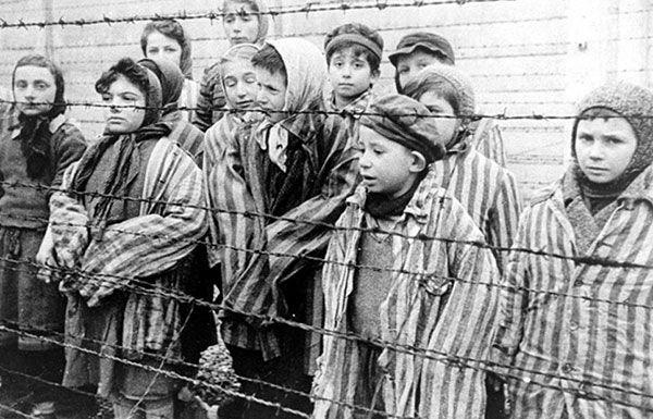 Image of children survivors of Auschwitz