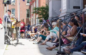 Image of Reading Frederick Douglass event in Montpelier