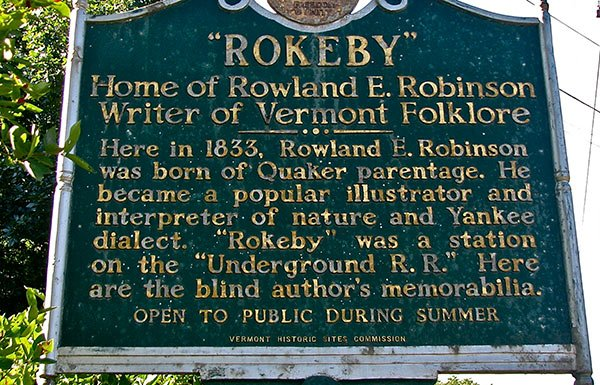 Image of Rokeby Museum sign
