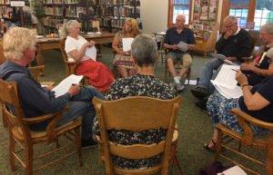 Image of group reading Douglass speech