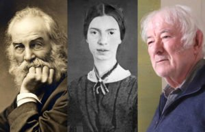 Image of Whitman, Dickinson, and Heaney