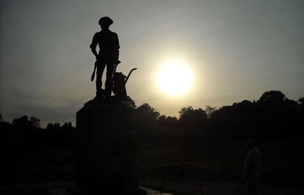Image of Minuteman statue