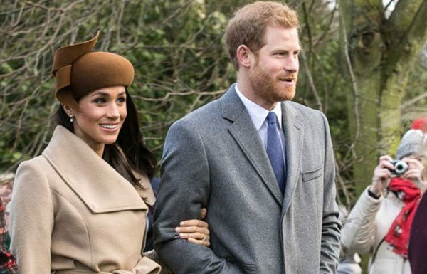 Image of Megan Markle and the prince