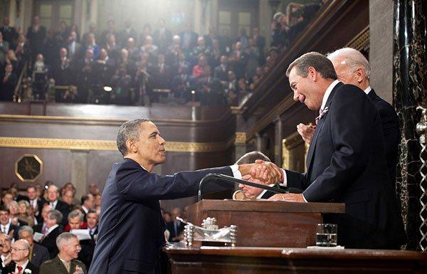 Image of President Obama and John Boehner