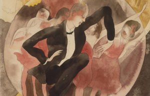 Image of painting of couple dancing